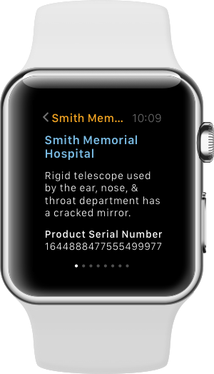 SAP Work Manager on the Apple Watch