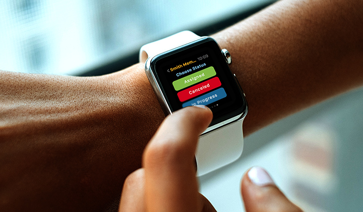 SAP Work Manager Apple Watch