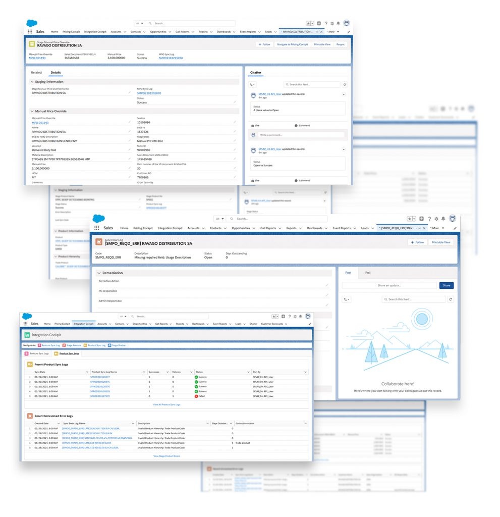 Successful Salesforce and SAP ERP Integration of pricing and master data